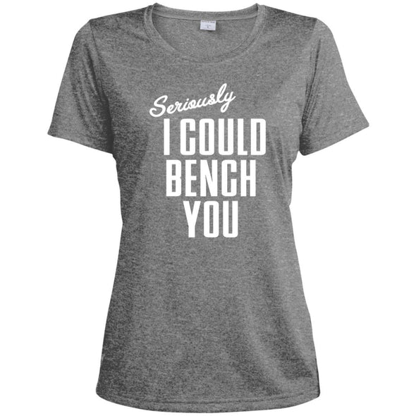 Seriously I Could Bench You Dri-Fit Tee T-Shirts CustomCat Vintage Heather X-Small