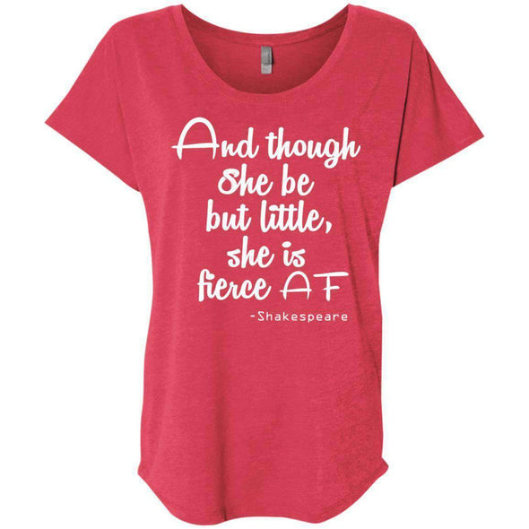 She be but little, she is fierce T-Shirts CustomCat Vintage Red X-Small
