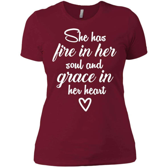 She Has Fire in Her Soul T-Shirts CustomCat Scarlet X-Small