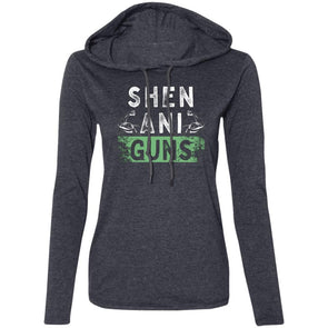 Shen-Ani-GUNS Sweatshirt Hoodie T-Shirts CustomCat Heather Dark Grey/Dark Grey S