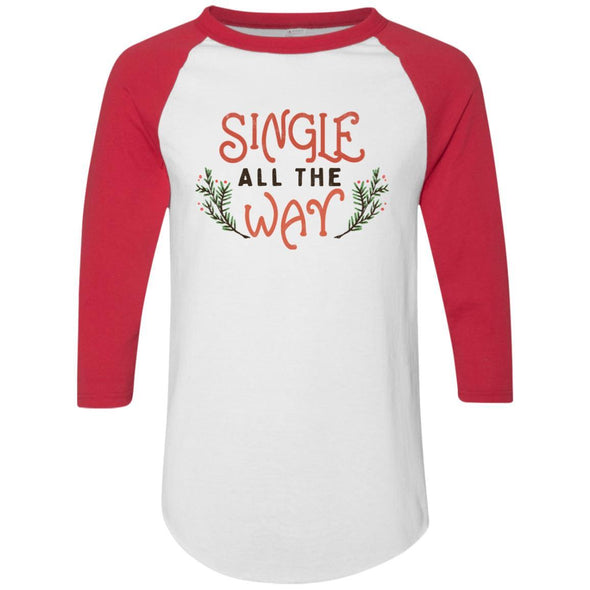 single-all-the-way Apparel CustomCat Raglan Jersey White/Red S