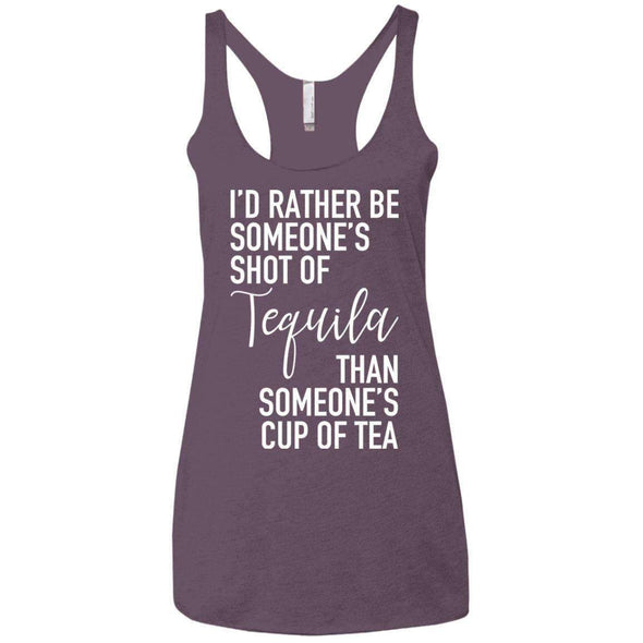 Someone's Shot of Tequila T-Shirts CustomCat Vintage Purple X-Small