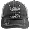 Sorta Sweet Sorta Savage Hats CustomCat Black/Grey One Size