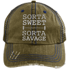 Sorta Sweet Sorta Savage Hats CustomCat Brown/Navy One Size