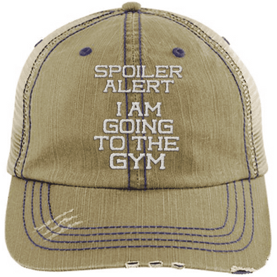 Spoiler Alert Hats CustomCat Khaki/Navy One Size