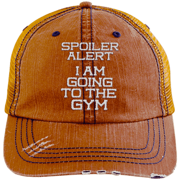 Spoiler Alert Hats CustomCat Orange/Navy One Size