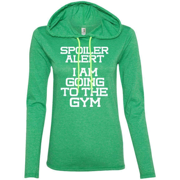Spoiler Alert T-Shirts CustomCat Heather Green/Neon Yellow Small
