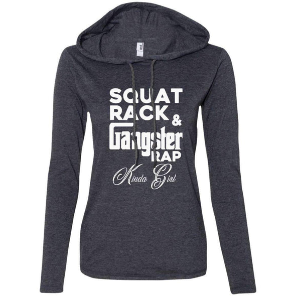 Squat Rack & Gangster Rap T-Shirts CustomCat Heather Dark Grey/Dark Grey Small