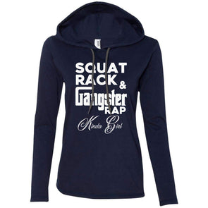 Squat Rack & Gangster Rap T-Shirts CustomCat Navy/Dark Grey Small