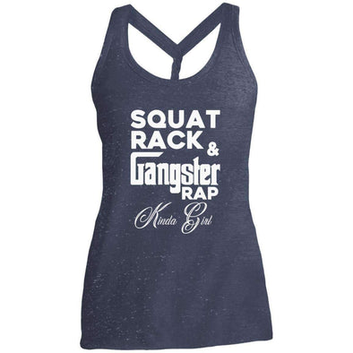 Squat Rack & Gangster Rap T-Shirts CustomCat Navy/Royal Cosmic X-Small