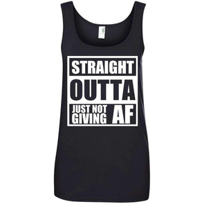 Straight Outta Giving AF T-Shirts CustomCat Black S