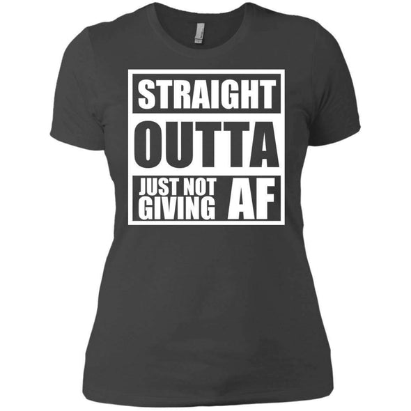 Straight Outta Giving AF T-Shirts CustomCat Heavy Metal X-Small