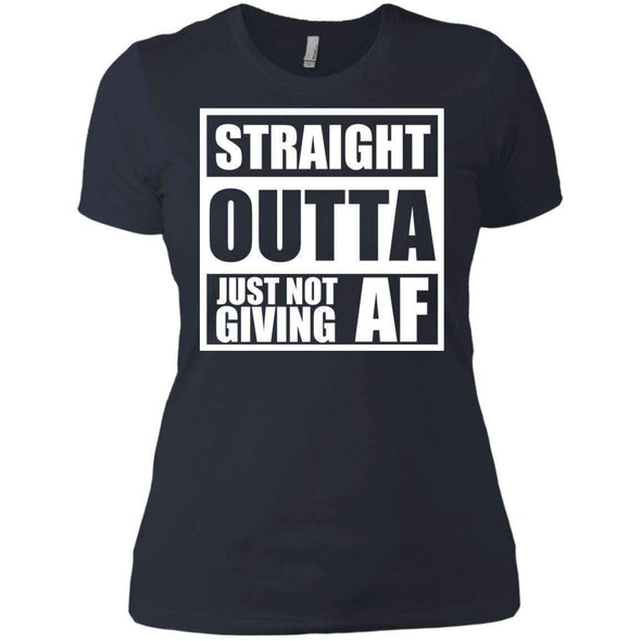Straight Outta Giving AF T-Shirts CustomCat Indigo X-Small