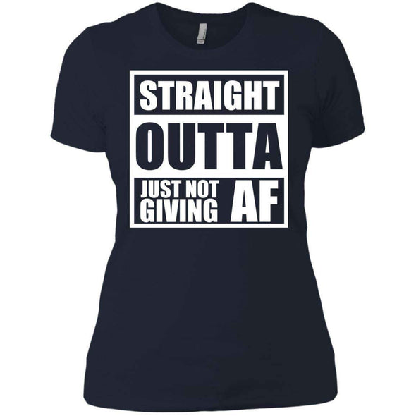 Straight Outta Giving AF T-Shirts CustomCat Midnight Navy X-Small