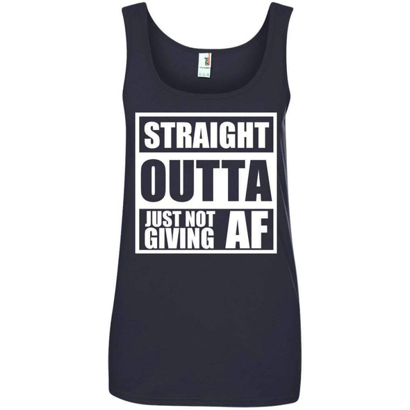 Straight Outta Giving AF T-Shirts CustomCat Navy S