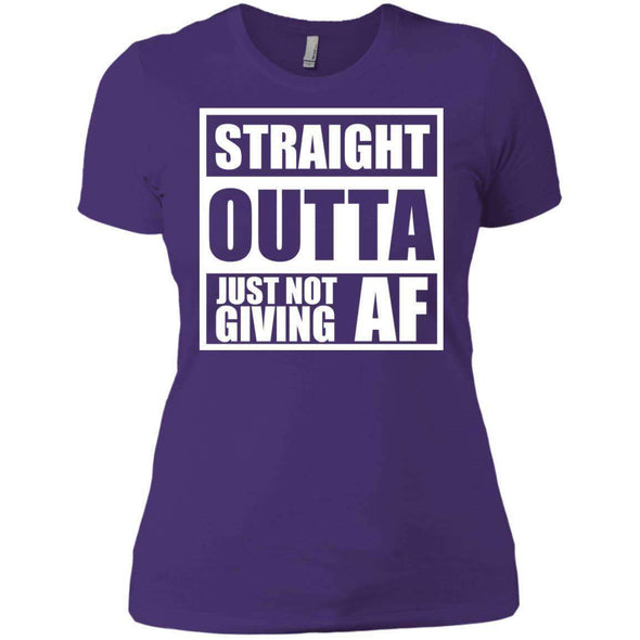 Straight Outta Giving AF T-Shirts CustomCat Purple Rush/ X-Small