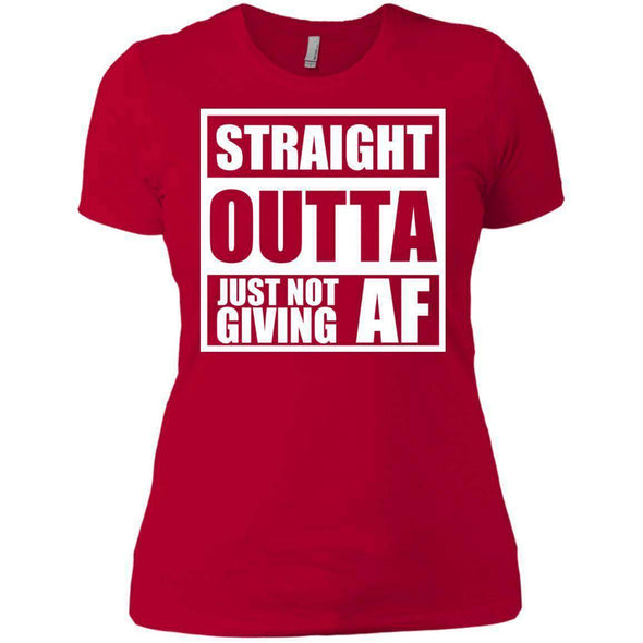 Straight Outta Giving AF T-Shirts CustomCat Red X-Small
