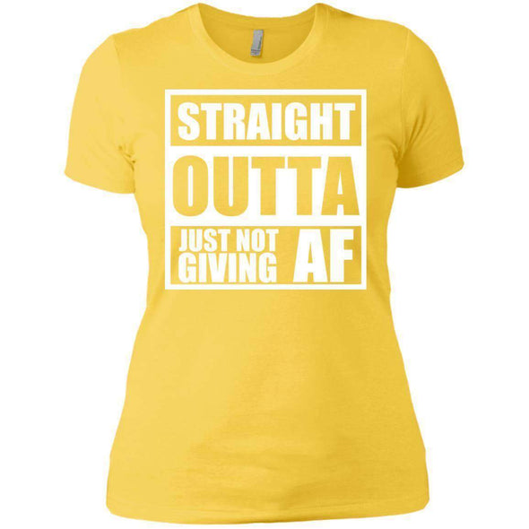 Straight Outta Giving AF T-Shirts CustomCat Vibrant Yellow X-Small