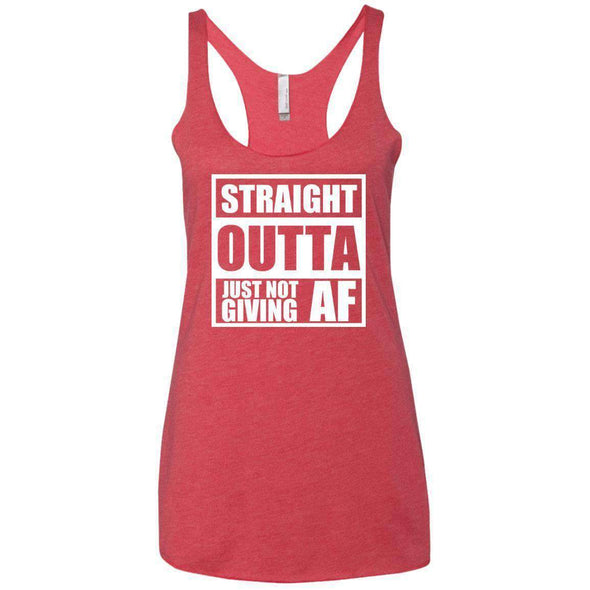 Straight Outta Giving AF T-Shirts CustomCat Vintage Red X-Small