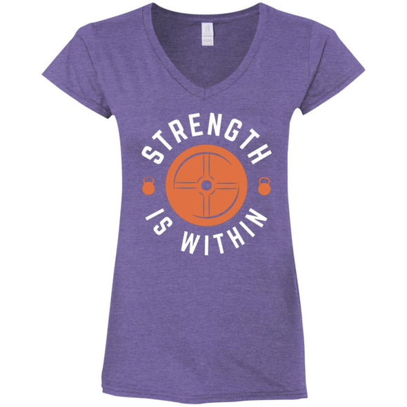 Strength is Within - Light Apparel CustomCat Fitted T-Shirt Heather Purple S