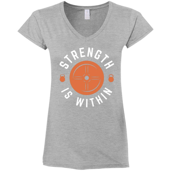 Strength is Within - Light Apparel CustomCat Fitted T-Shirt Sport Grey S