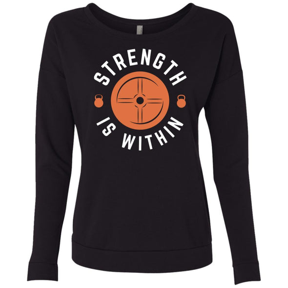 Strength is Within - Light Apparel CustomCat French Terry Scoop Black S