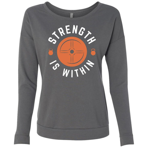 Strength is Within - Light Apparel CustomCat French Terry Scoop Dark Grey S