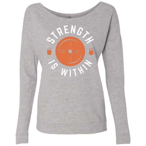Strength is Within - Light Apparel CustomCat French Terry Scoop Heather Grey S