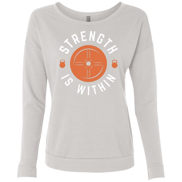 Strength is Within - Light Apparel CustomCat French Terry Scoop White S