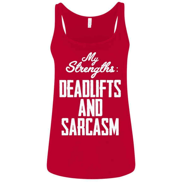 Strengths- DEADLIFTS & SARCASM T-Shirts CustomCat Red S