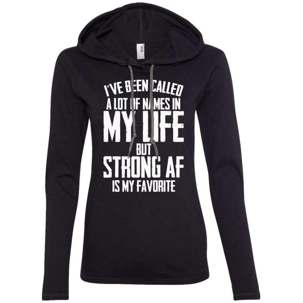 Strong AF is my Favorite T-Shirts CustomCat Black/Dark Grey S