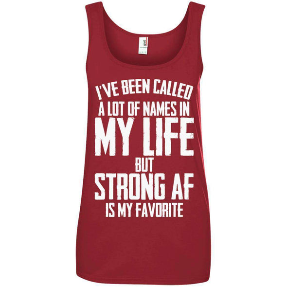 Strong AF is my Favorite T-Shirts CustomCat Independence Red S