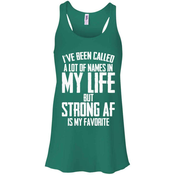 Strong AF is my Favorite T-Shirts CustomCat Kelly Green X-Small