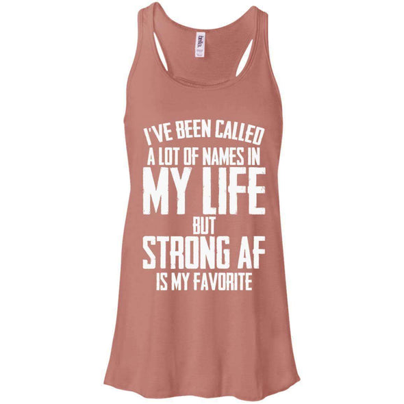 Strong AF is my Favorite T-Shirts CustomCat Mauve X-Small