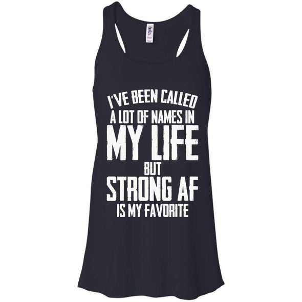 Strong AF is my Favorite T-Shirts CustomCat Midnight X-Small