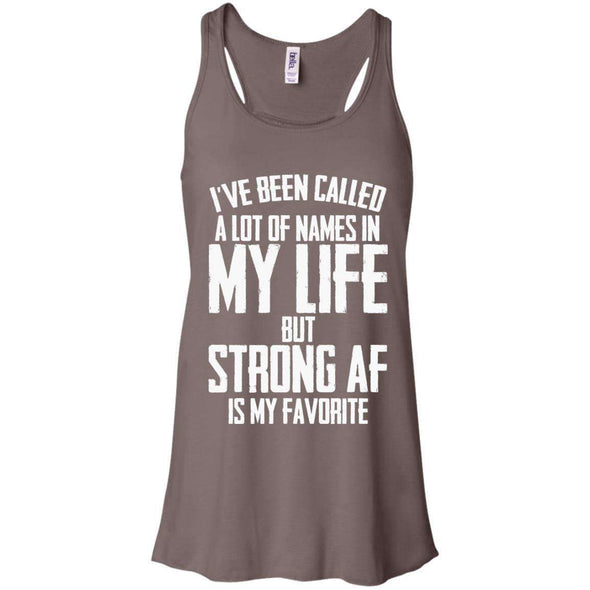 Strong AF is my Favorite T-Shirts CustomCat Pebble Brown X-Small