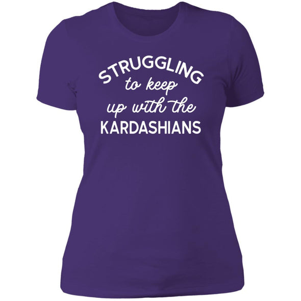 Struggling with the Kardahians T-Shirts Apparel CustomCat Boyfriend T-Shirt Purple Rush/ X-Small