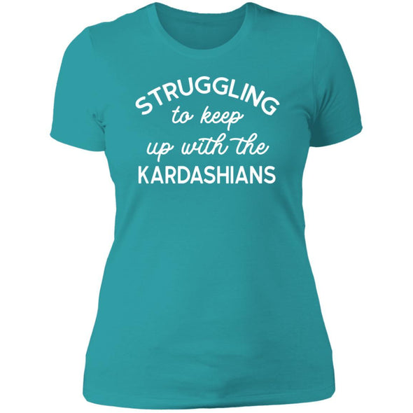 Struggling with the Kardahians T-Shirts Apparel CustomCat Boyfriend T-Shirt Tahiti Blue X-Small