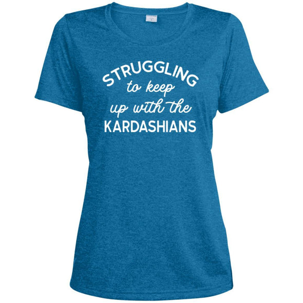 Struggling with the Kardahians T-Shirts Apparel CustomCat Dri-Fit T-Shirt Blue Wake Heather X-Small