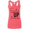 Suck it Up Buttercup (Soft Tank) Apparel CustomCat Ladies Softstyle Racerback Tank Heather Red Small