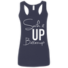 Suck it Up Buttercup (Soft Tank) Apparel CustomCat Ladies Softstyle Racerback Tank Navy Small
