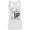 Suck it Up Buttercup (Soft Tank) Apparel CustomCat Ladies Softstyle Racerback Tank White Small