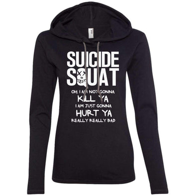 Suicide Squat T-Shirts CustomCat Black/Dark Grey Small