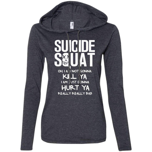 Suicide Squat T-Shirts CustomCat Heather Dark Grey/Dark Grey Small