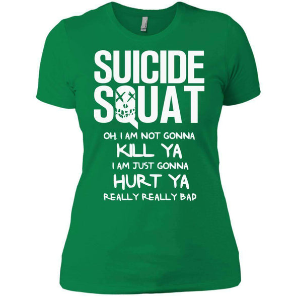 Suicide Squat T-Shirts CustomCat Kelly Green X-Small