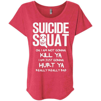 Suicide Squat T-Shirts CustomCat Vintage Red X-Small