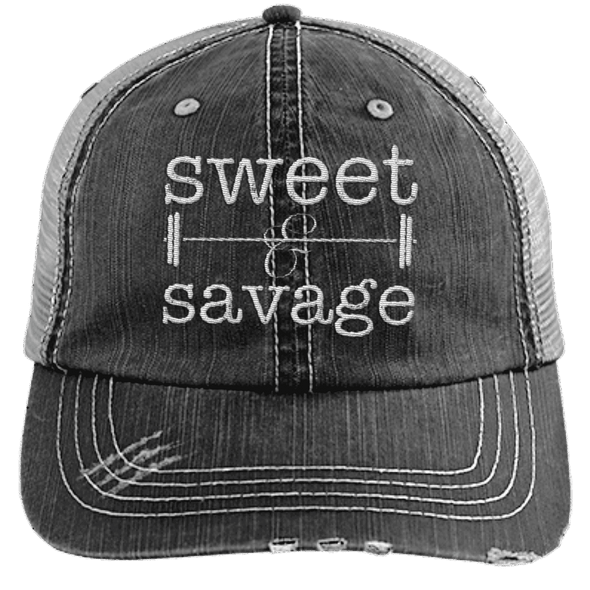 Sweet & Savage Hats CustomCat Black/Grey One Size