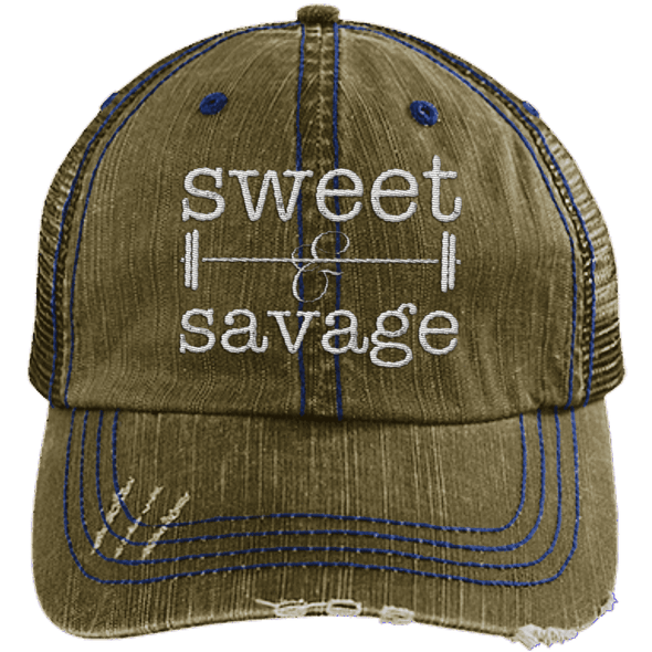 Sweet & Savage Hats CustomCat Brown/Navy One Size