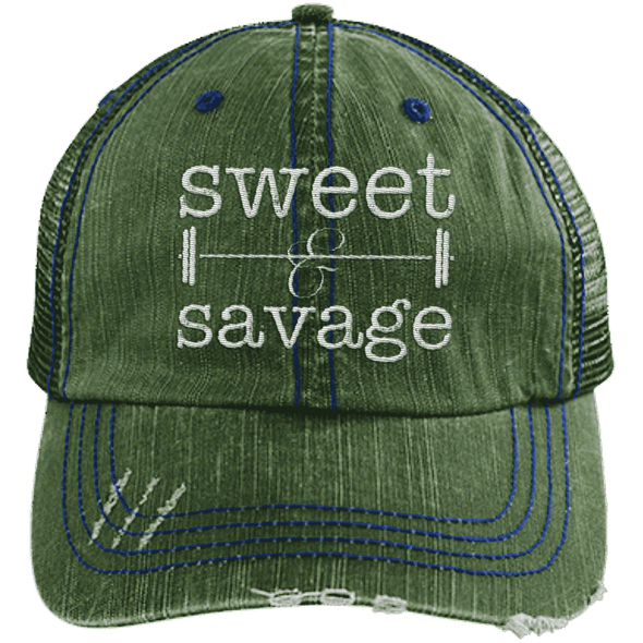 Sweet & Savage Hats CustomCat Dark Green/Navy One Size