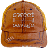 Sweet & Savage Hats CustomCat Orange/Navy One Size